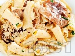 Паста с гъби и моцарела - снимка на рецептата